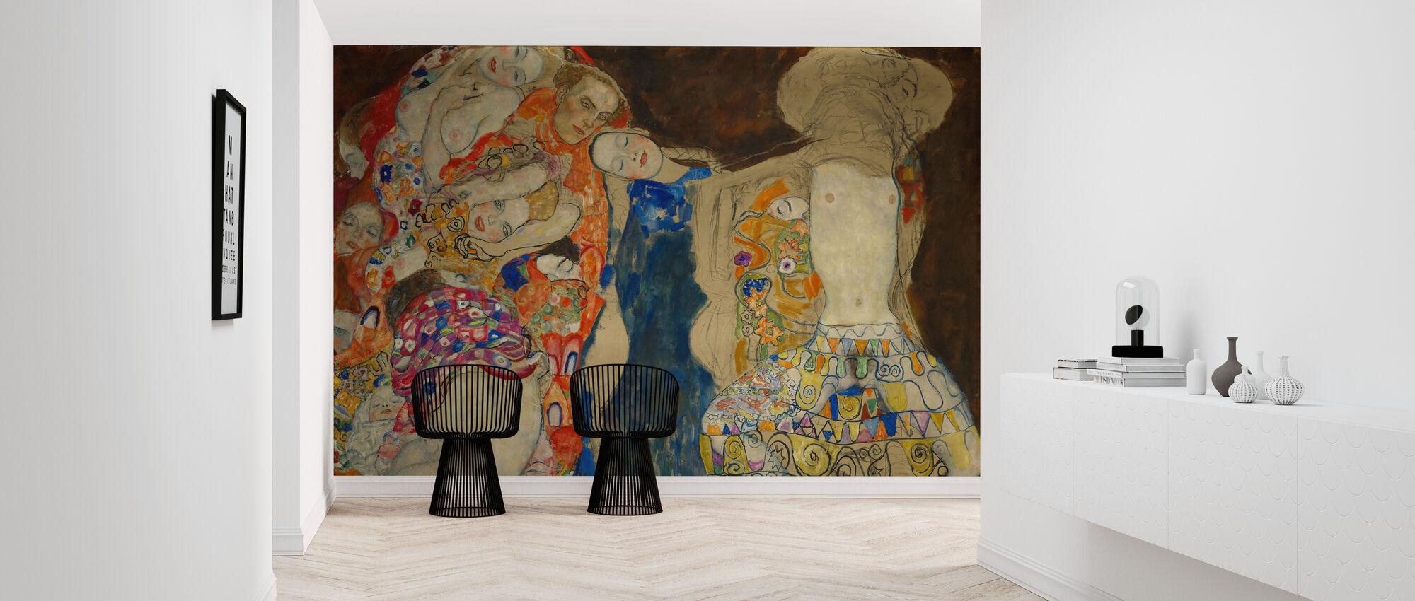 Bride - Gustav Klimt - Wallpaper - Hallway