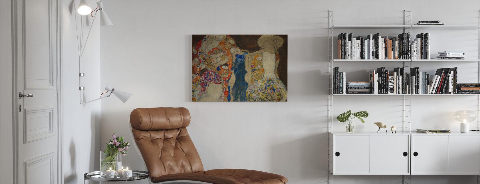 Brud - Gustav Klimt - Canvastavla - Vardagsrum