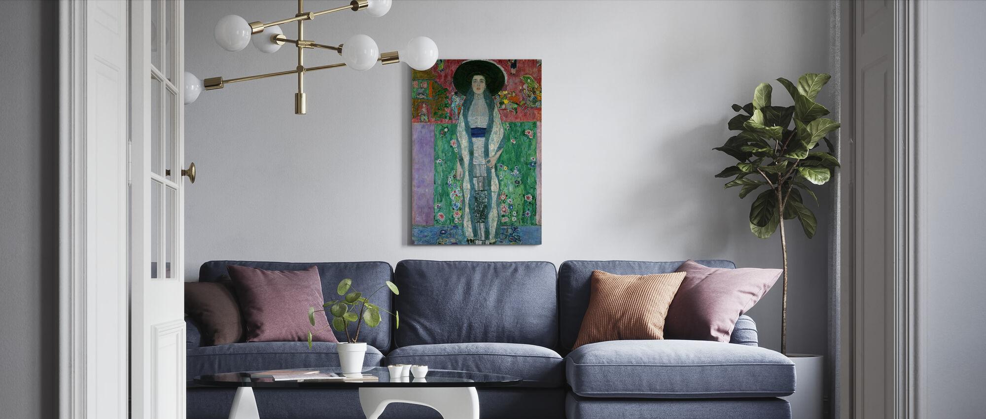 Portret van Adele Bloch-Bauer - Gustav Klimt - Canvas print - Woonkamer