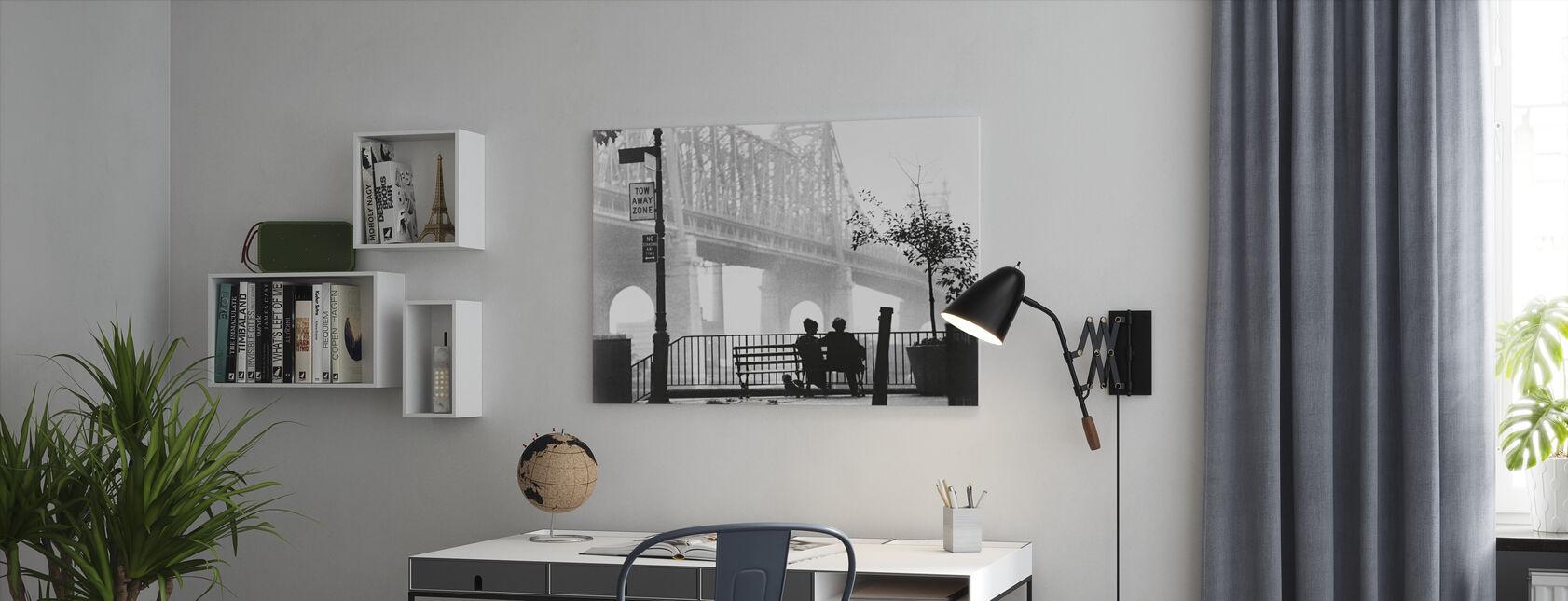 Manhattan - Woody Allen y Diane Keaton - Lienzo - Oficina