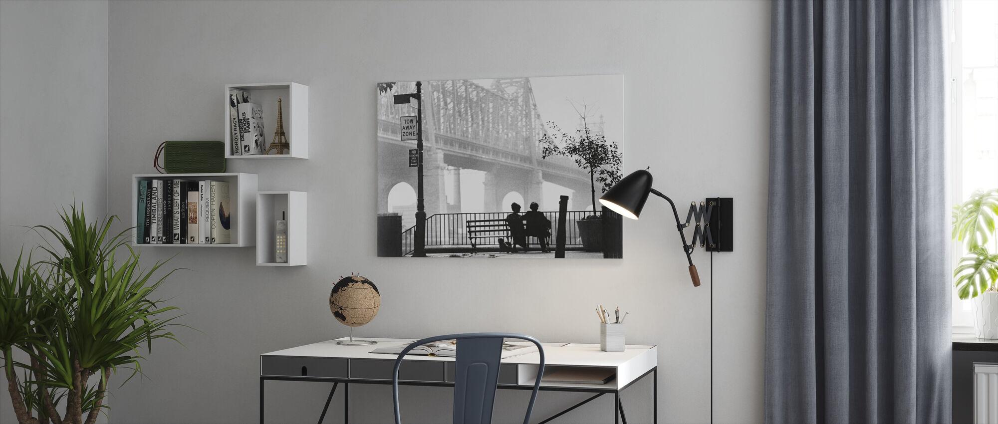 Manhattan - Woody Allen and Diane Keaton - Canvas print - Office
