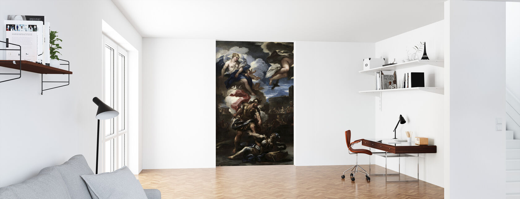Aeneas defeats Turnus - Luca Giordano - Wallpaper - Office