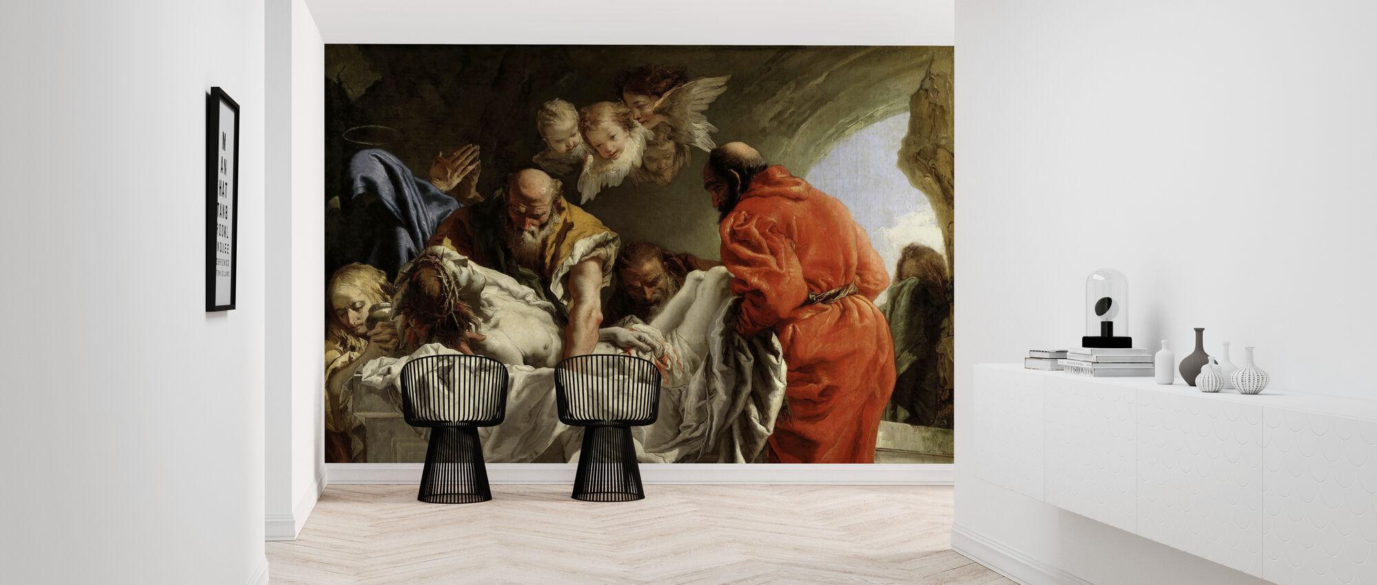 Burial of Christ - Giandomenico Tiepolo - Wallpaper - Hallway