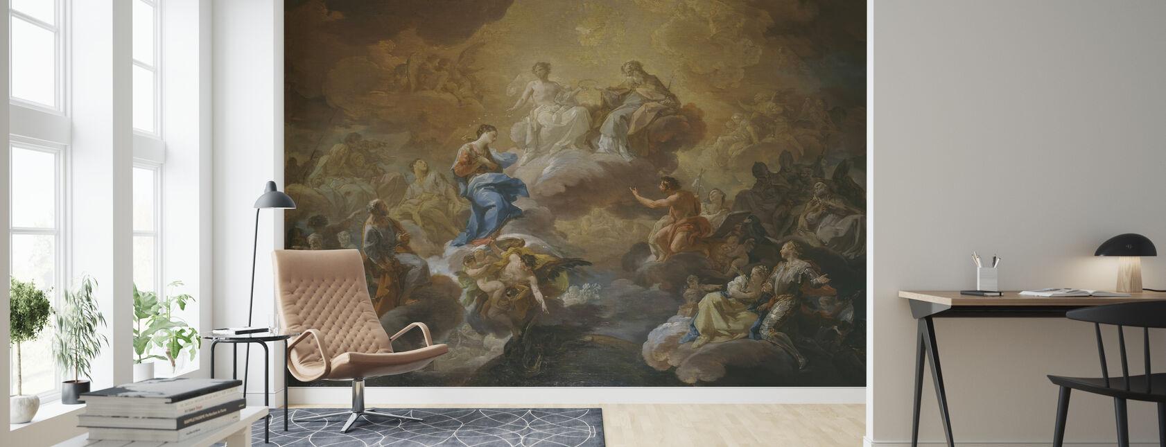 Holy Trinity - Corrado Giaquinto - Wallpaper - Living Room
