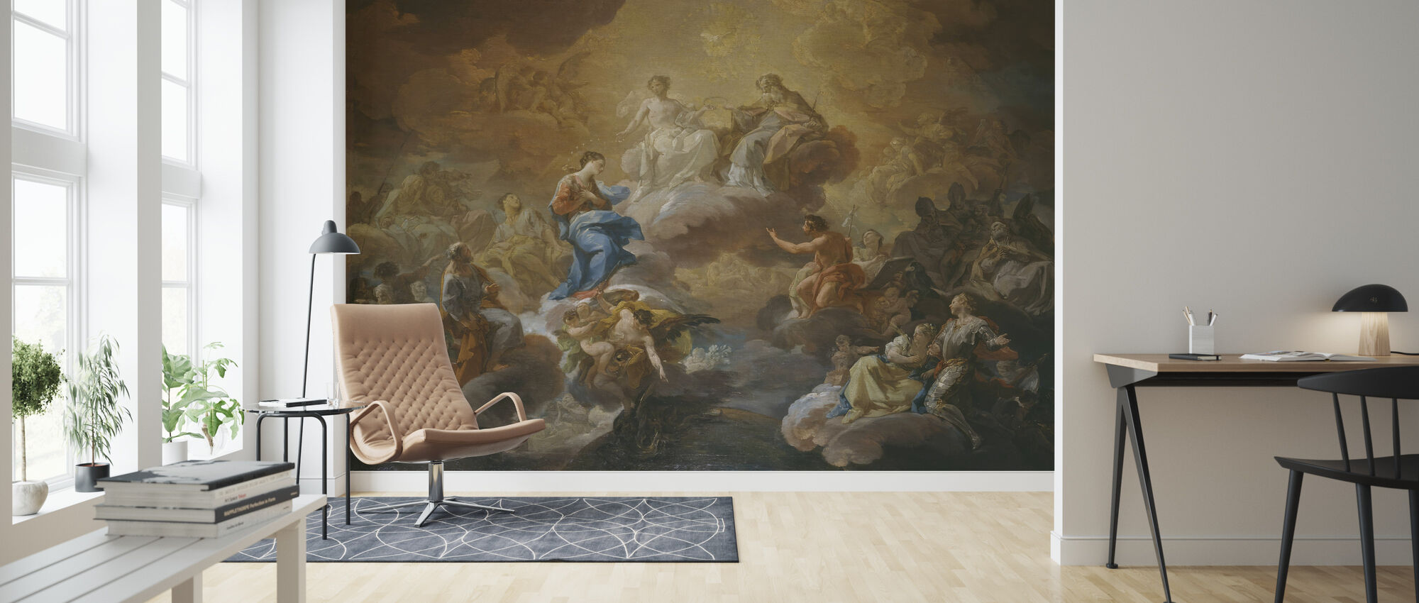 Holy Trinity - Corrado Giaquinto - Wallpaper - Living Room