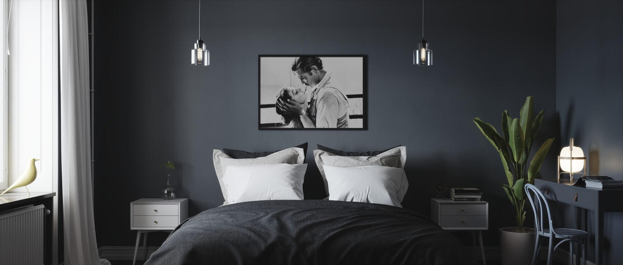 Tuulen viemää - Clark Gable ja Vivien Leigh - Kehystetty kuva - Makuuhuone
