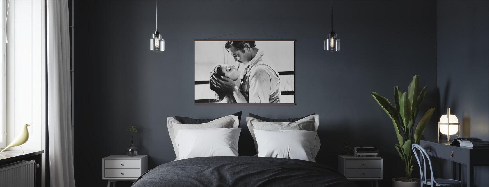 Tuulen viemää - Clark Gable ja Vivien Leigh - Juliste - Makuuhuone