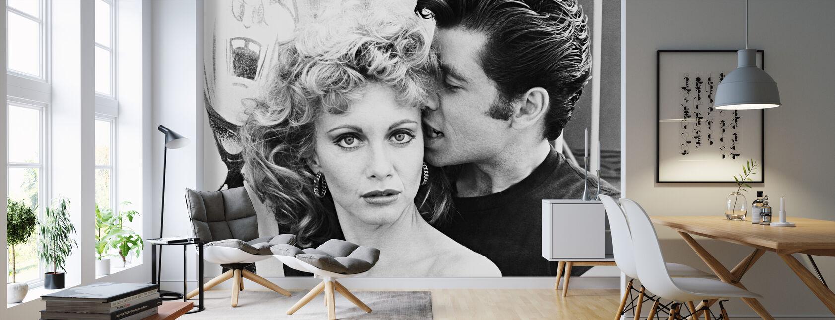 Grease - John Travolta and Olivia Newton John - Wallpaper - Living Room