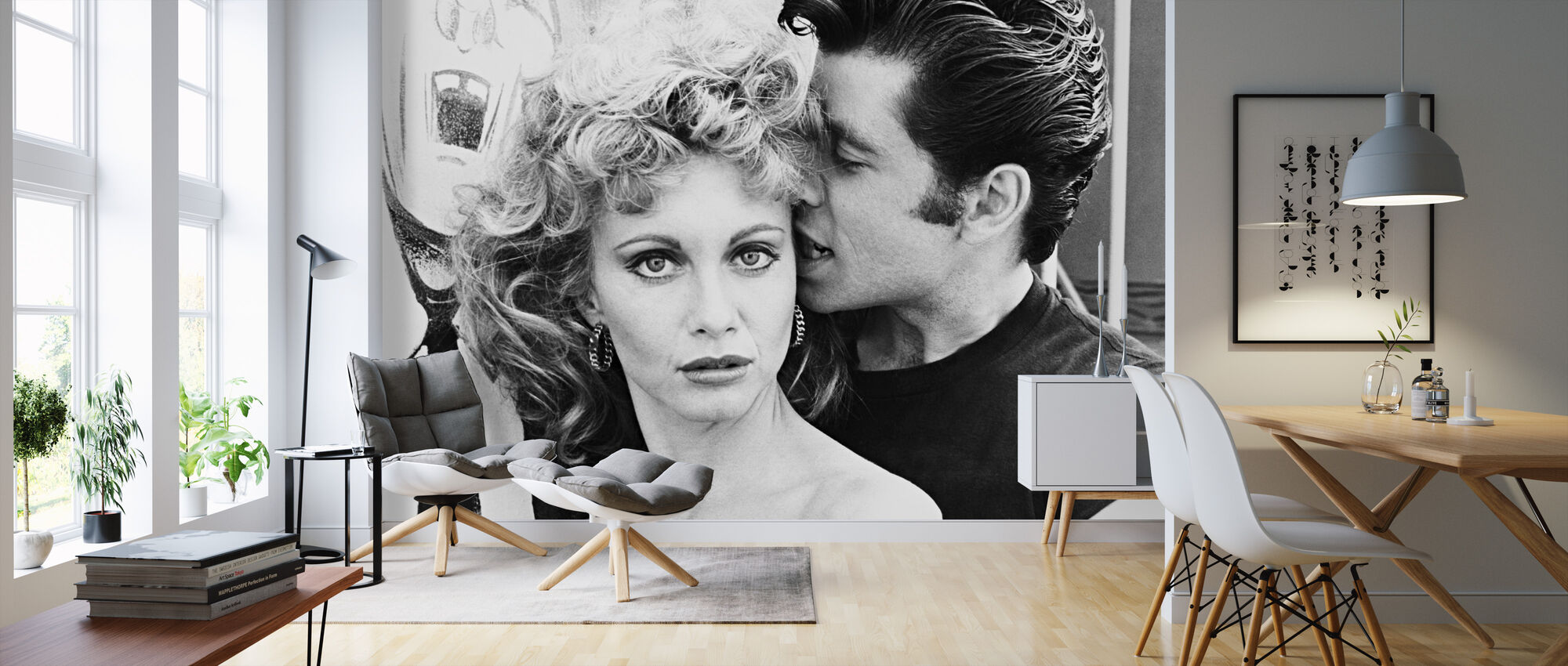 Grease John Travolta And Olivia Newton John Decorate