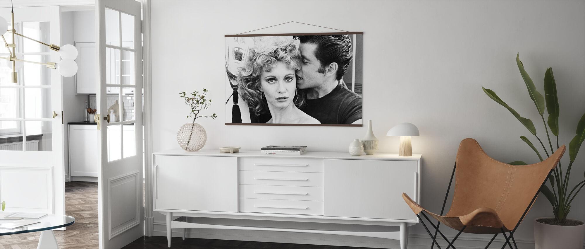 Vet - John Travolta en Olivia Newton John - Poster - Woonkamer