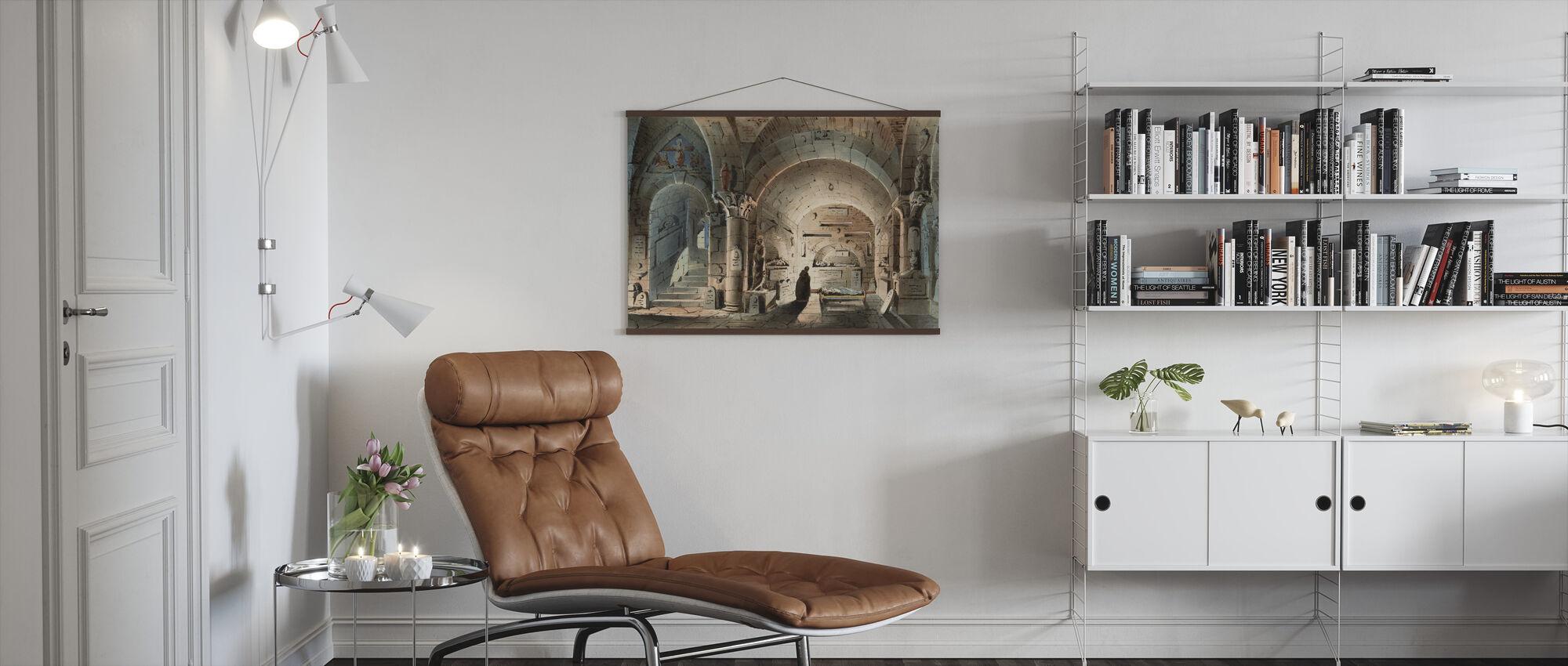 Crypt Scene - Poster - Living Room