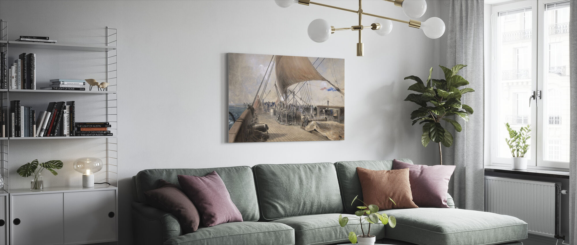 Machinery in the Bows - Robert Charles Dudley - Canvas print - Living Room