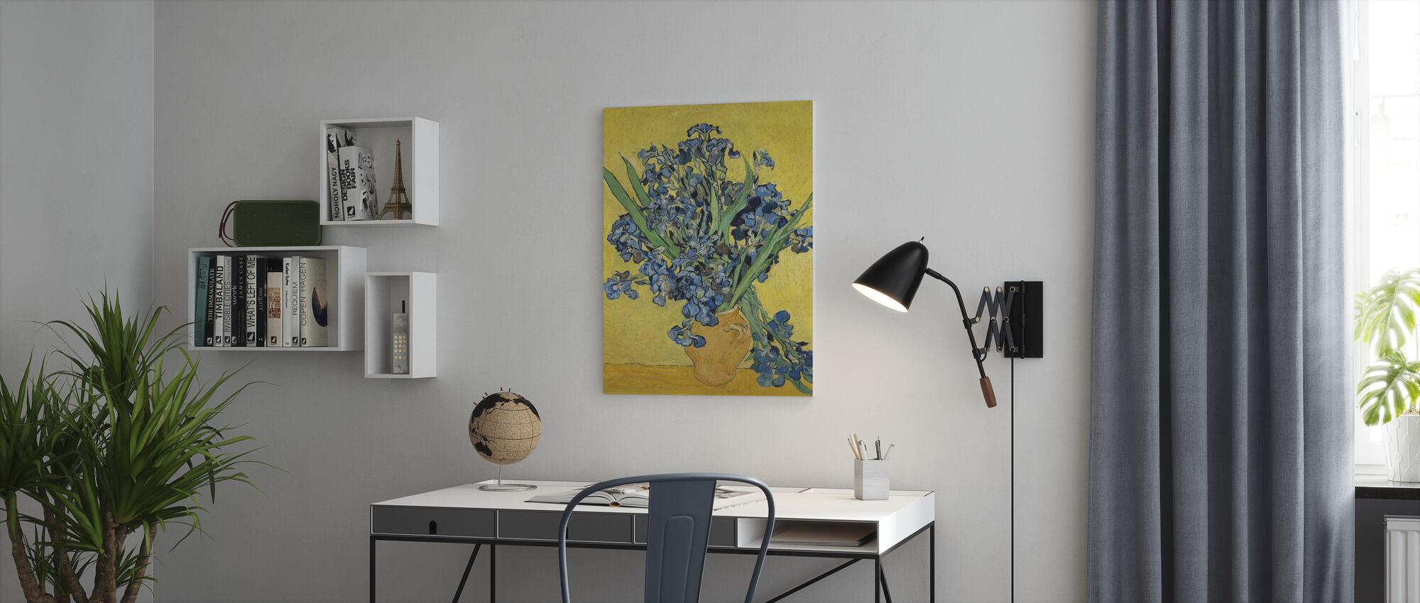 Irises - Vincent Van Gogh - Canvas print - Office