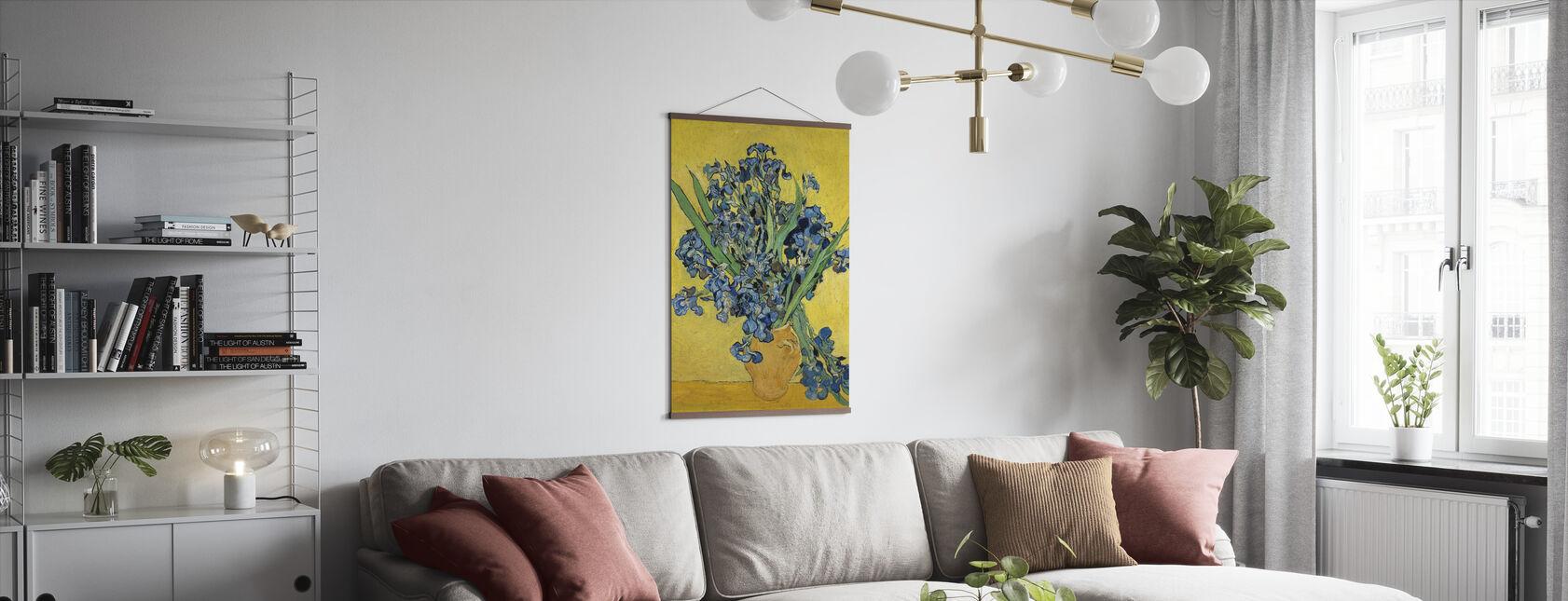 Irises - Vincent Van Gogh - Juliste - Olohuone