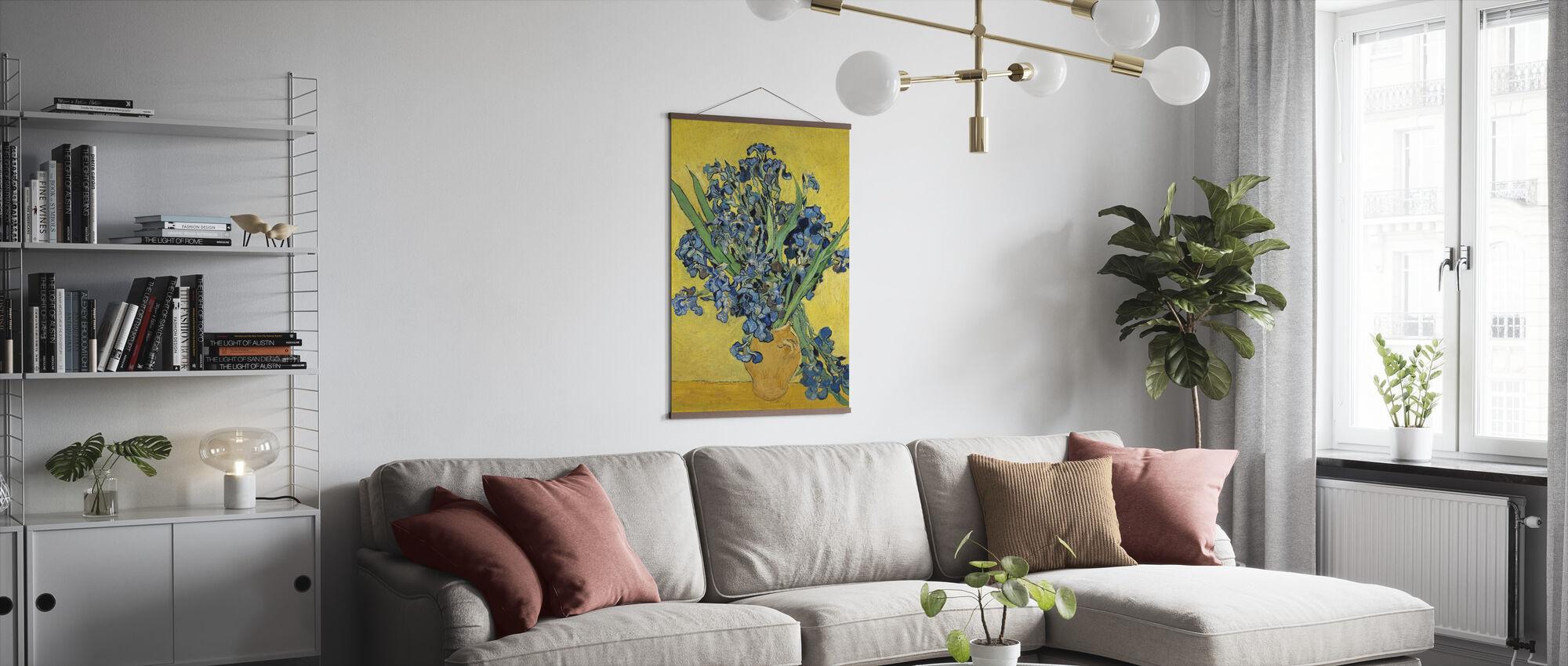 Irises - Vincent Van Gogh - Poster - Living Room
