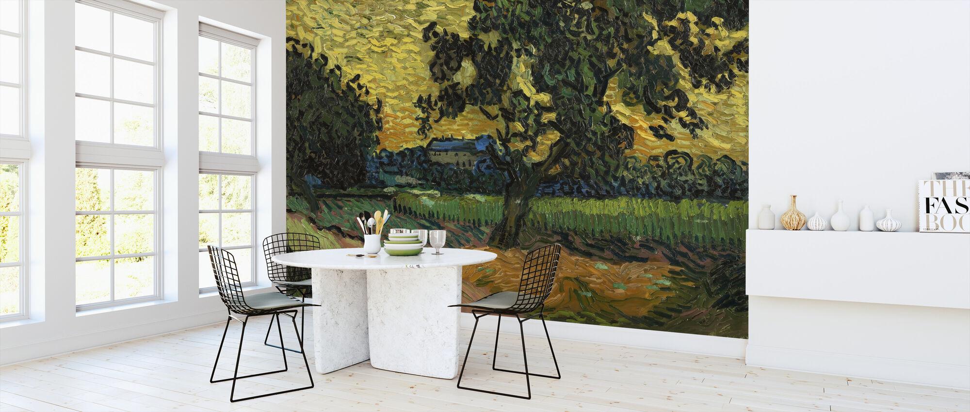 Landschap bij schemering - Vincent Van Gogh - Behang - Keuken