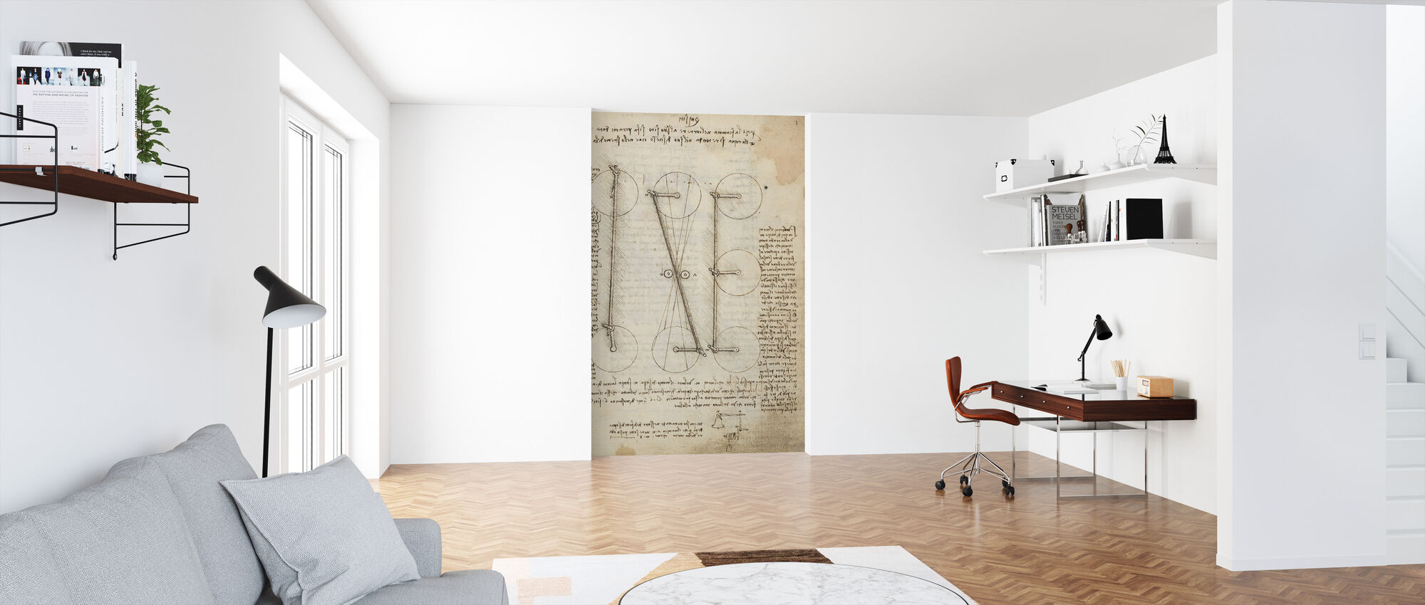Codex Madrid I - Leonardo da Vinci - Behang - Kantoor