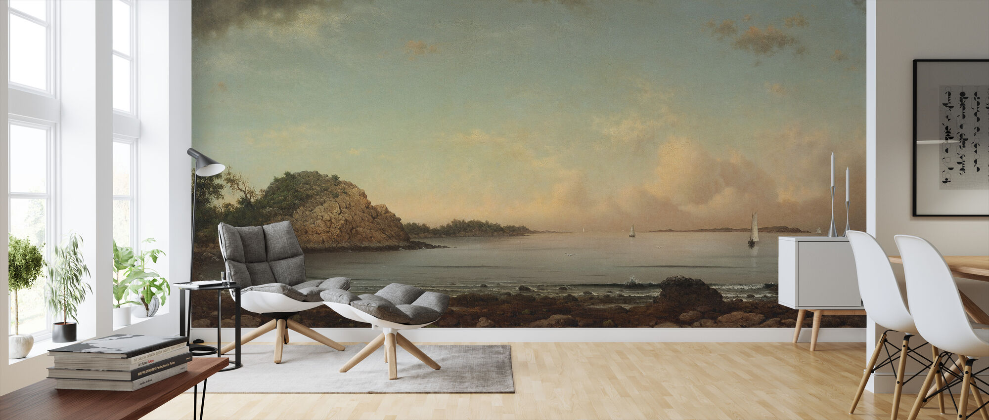 Singing Beach - Martin Johnson Heade - Wallpaper - Living Room