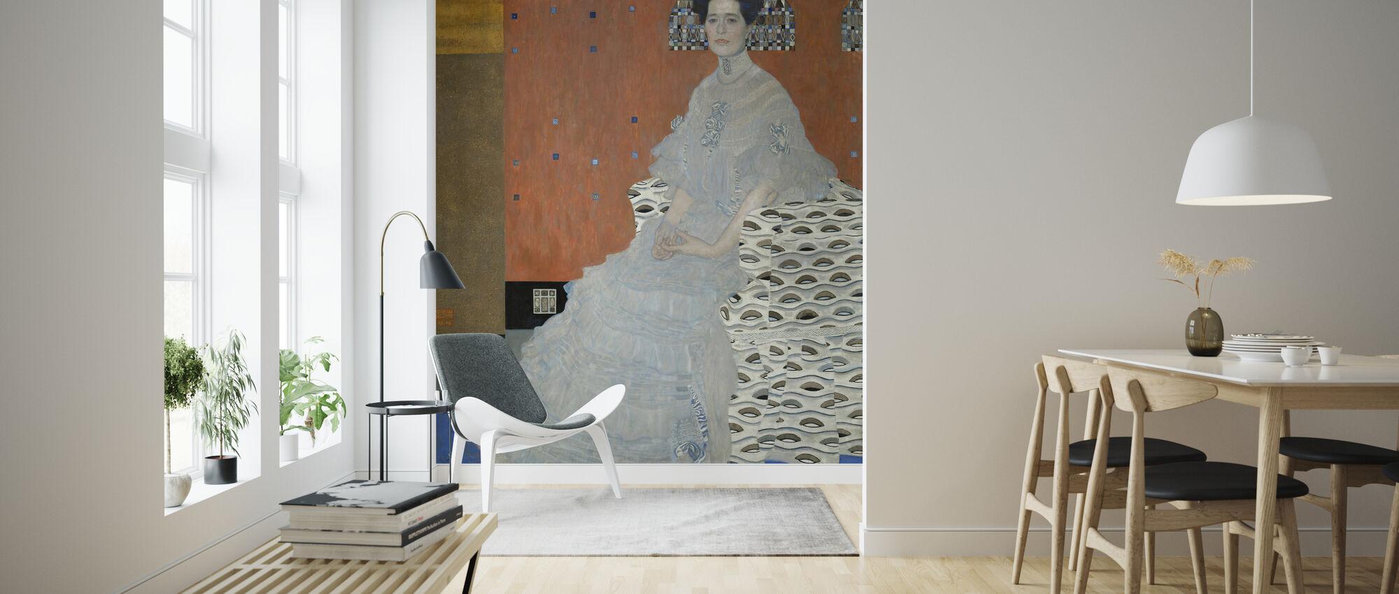 Fritza Riedler - Gustav Klimt - Wallpaper - Living Room