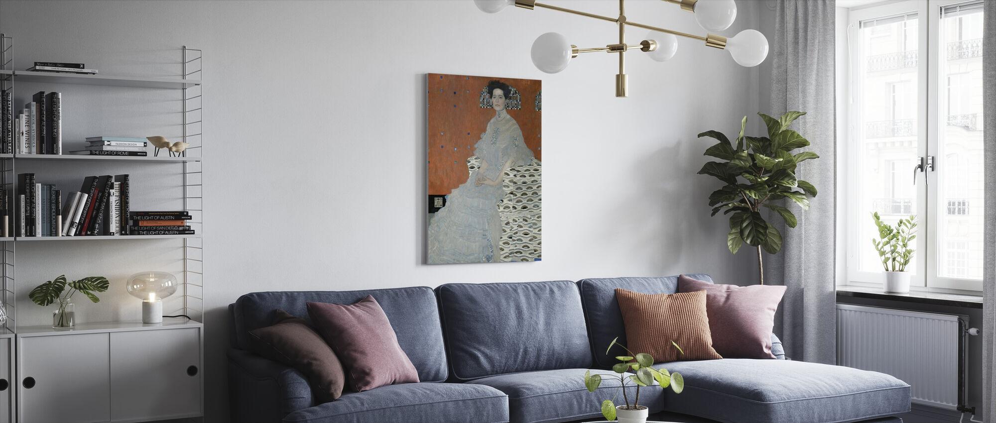 Fritza Riedler - Gustav Klimt - Canvastaulu - Olohuone