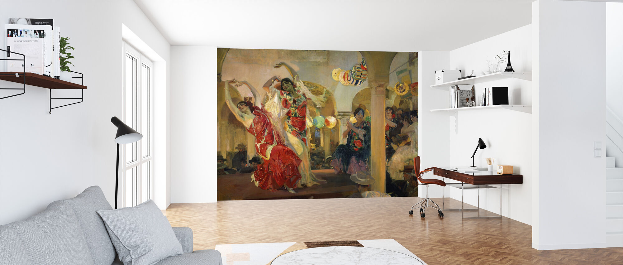 Women Dancing - Joaquin Sorolla - Wallpaper - Office