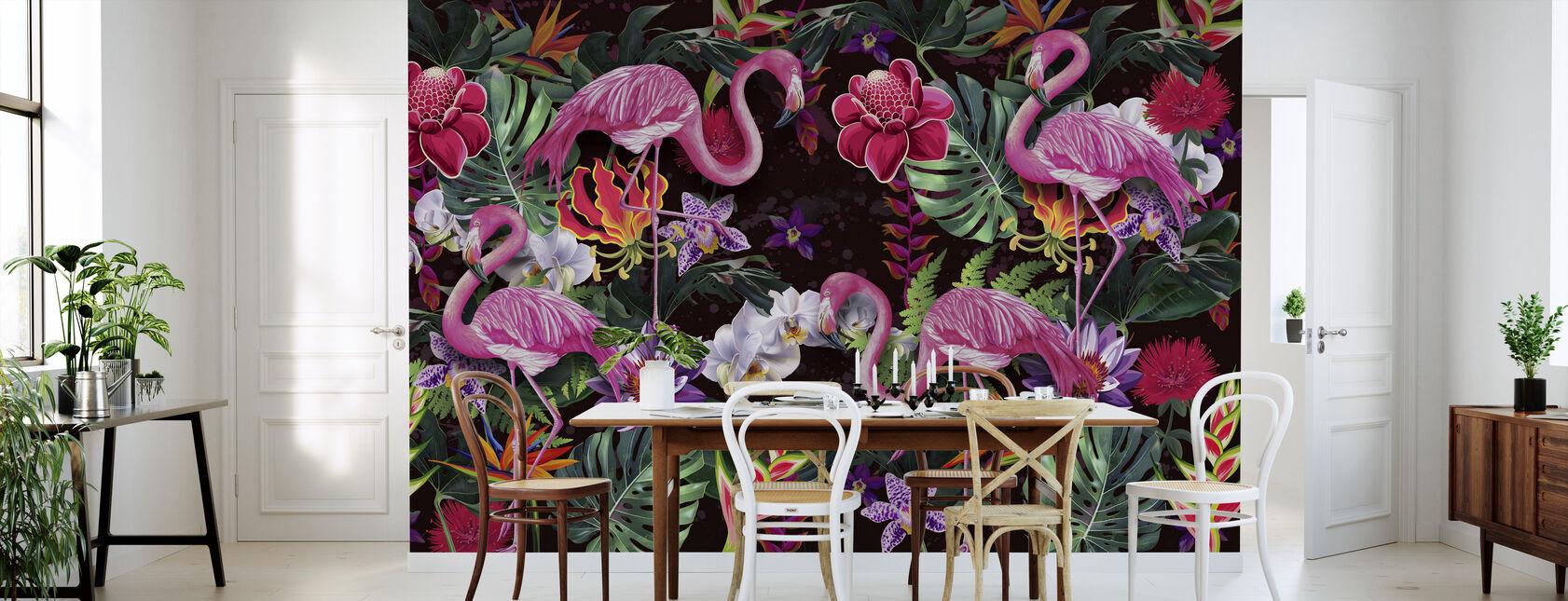 Rosa flamingoer - Tapet - Kjøkken
