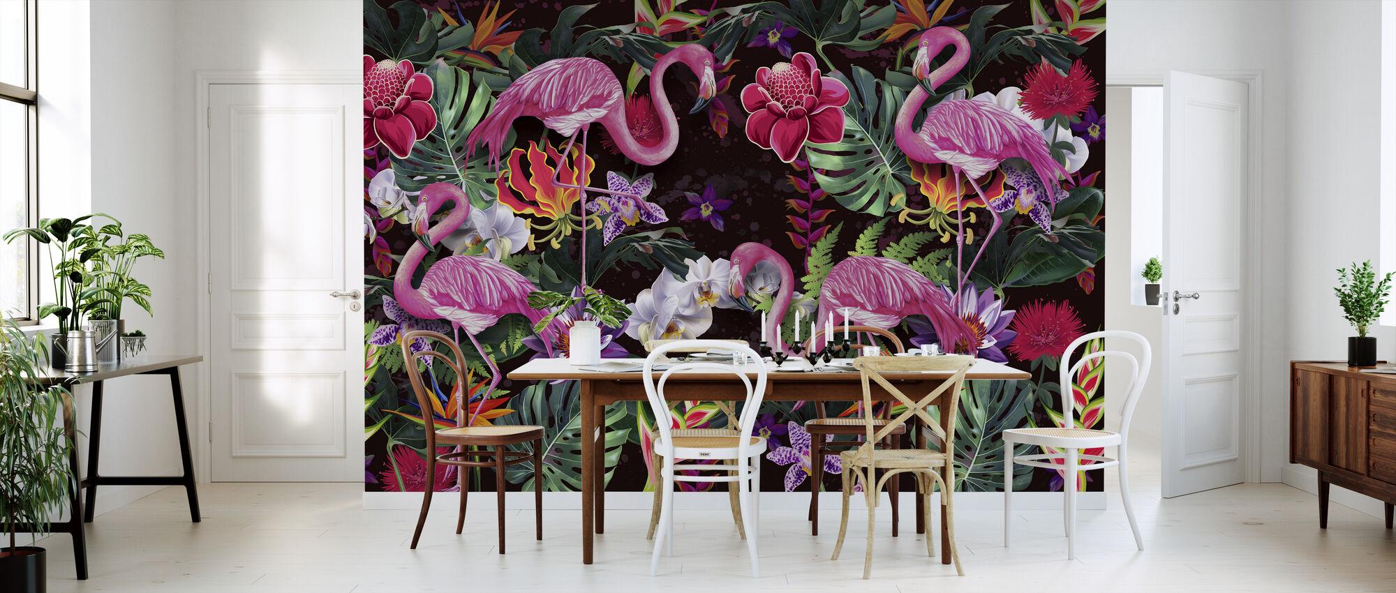 Pink Flamingos - Wallpaper - Kitchen