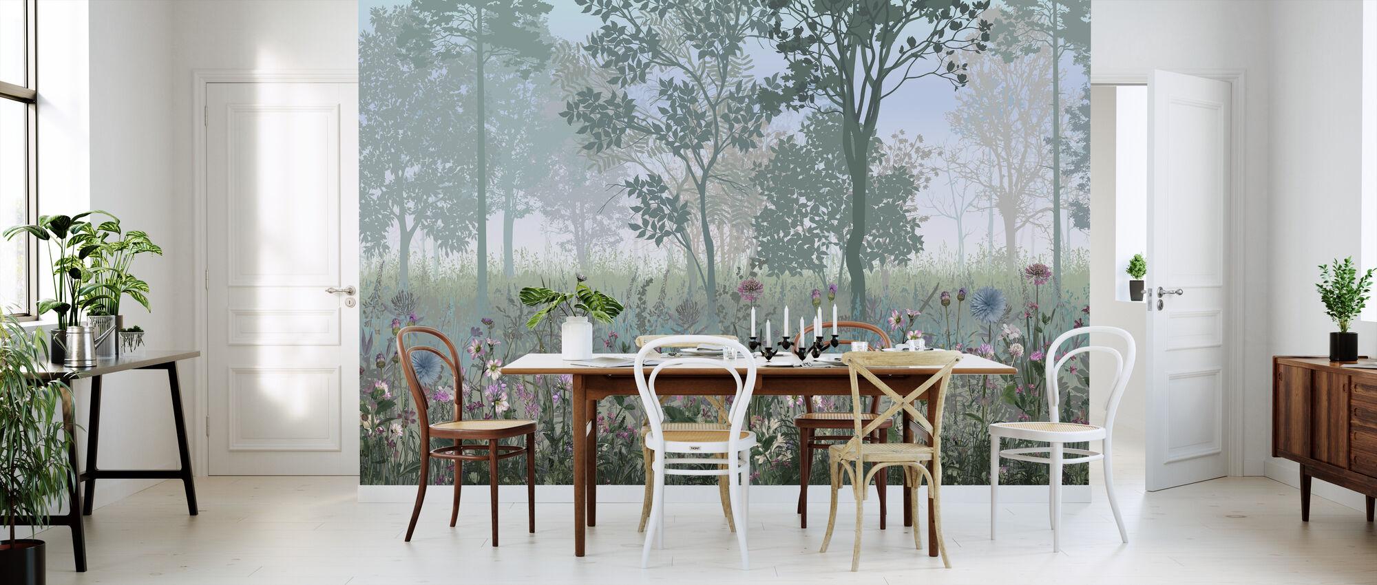 Hazy Forest - Wallpaper - Kitchen