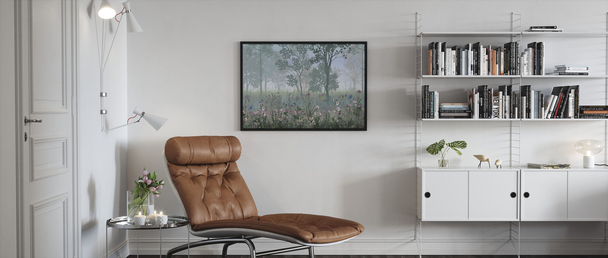 Hazy Forest - Framed print - Living Room
