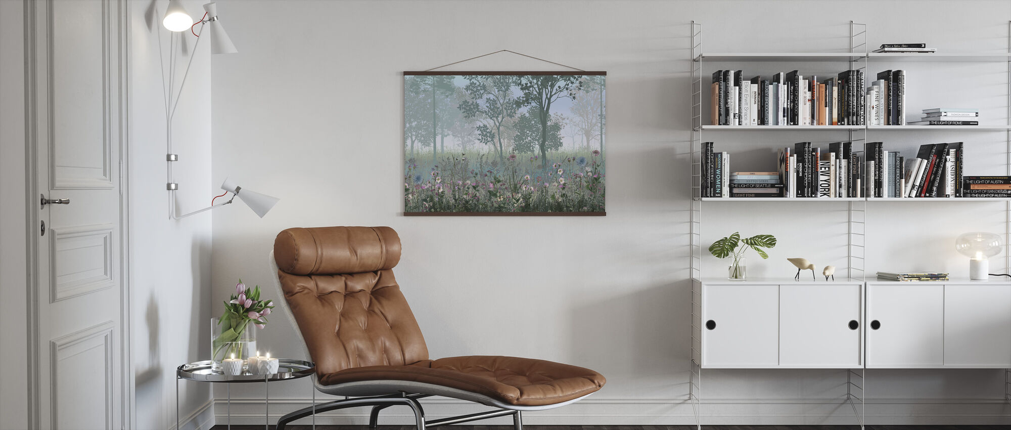 Hazy skog - Poster - Vardagsrum