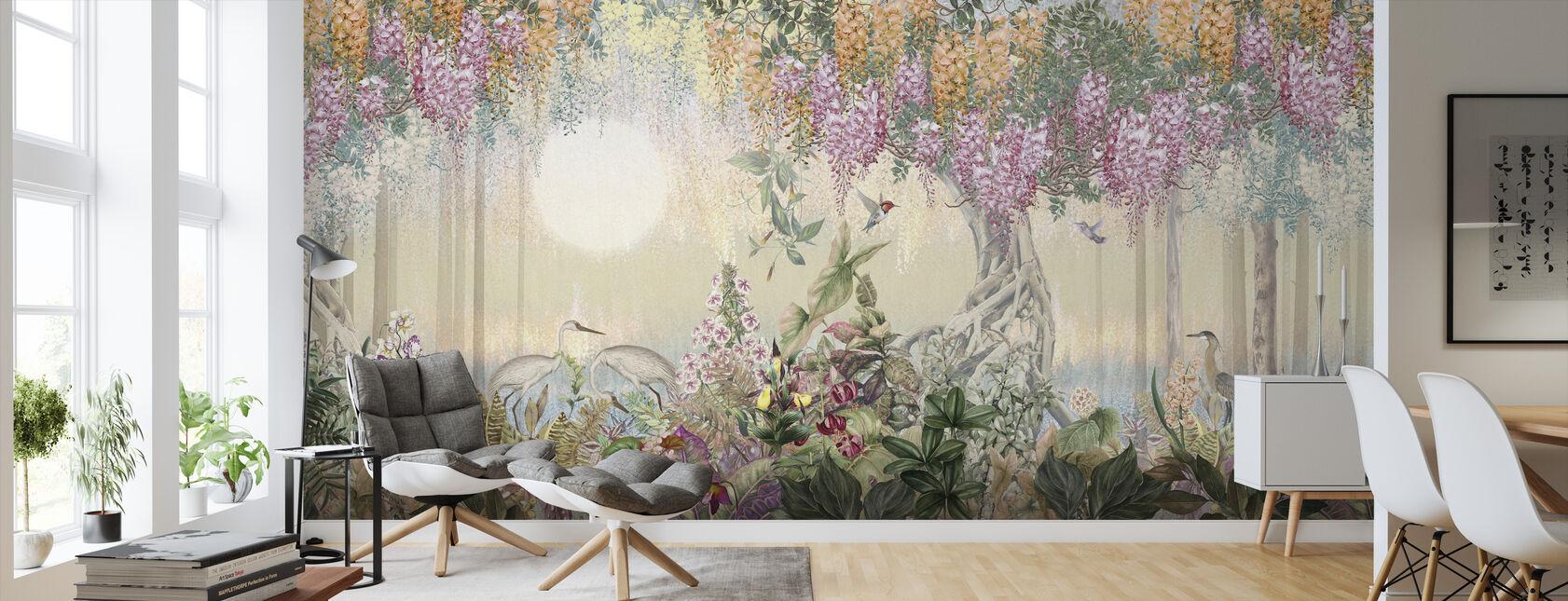 Romanttinen trooppinen metsä - Tapetti - Olohuone