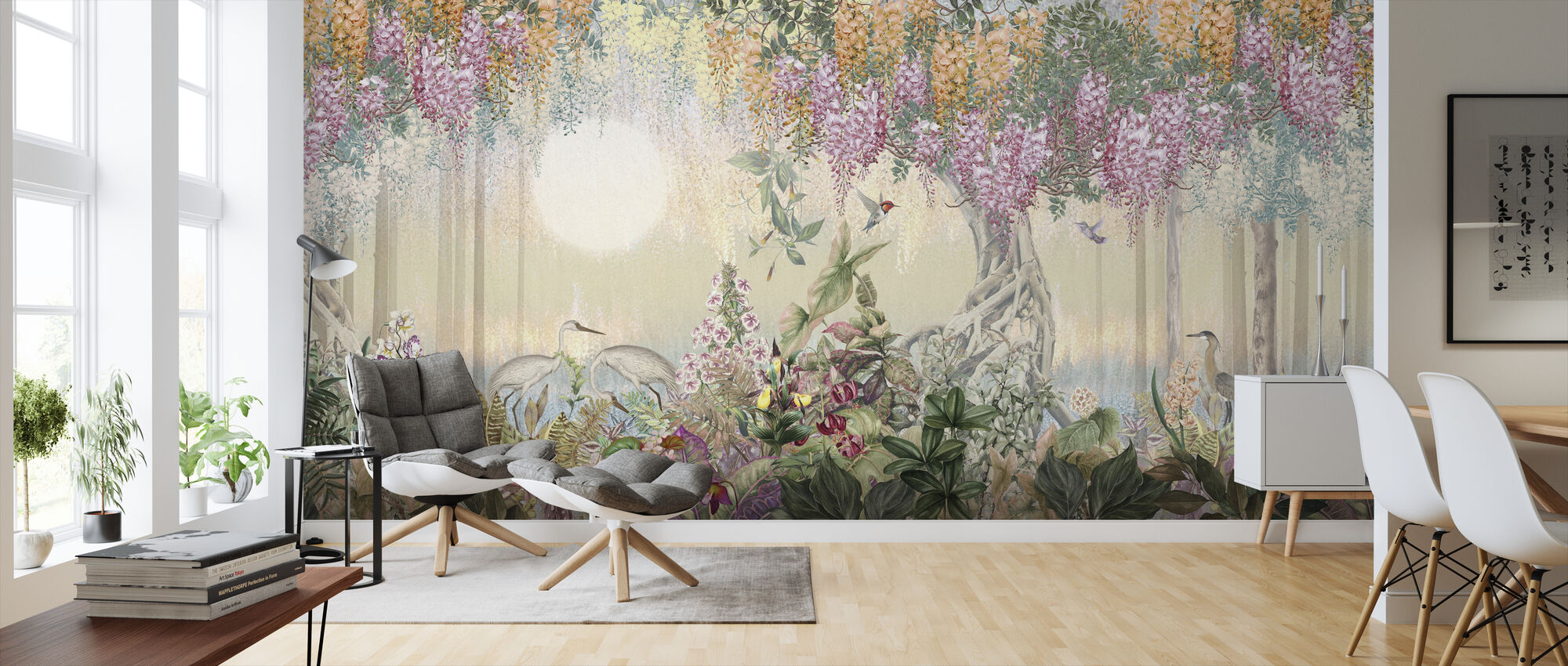 Romantic Tropical Forest - Wallpaper - Living Room