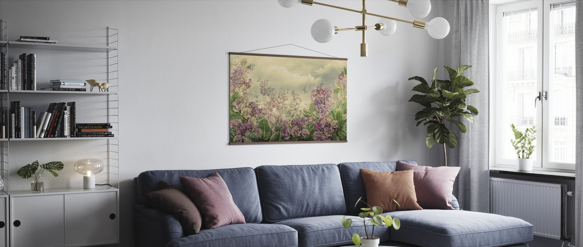 Pink and Purple Blossom - Poster - Living Room