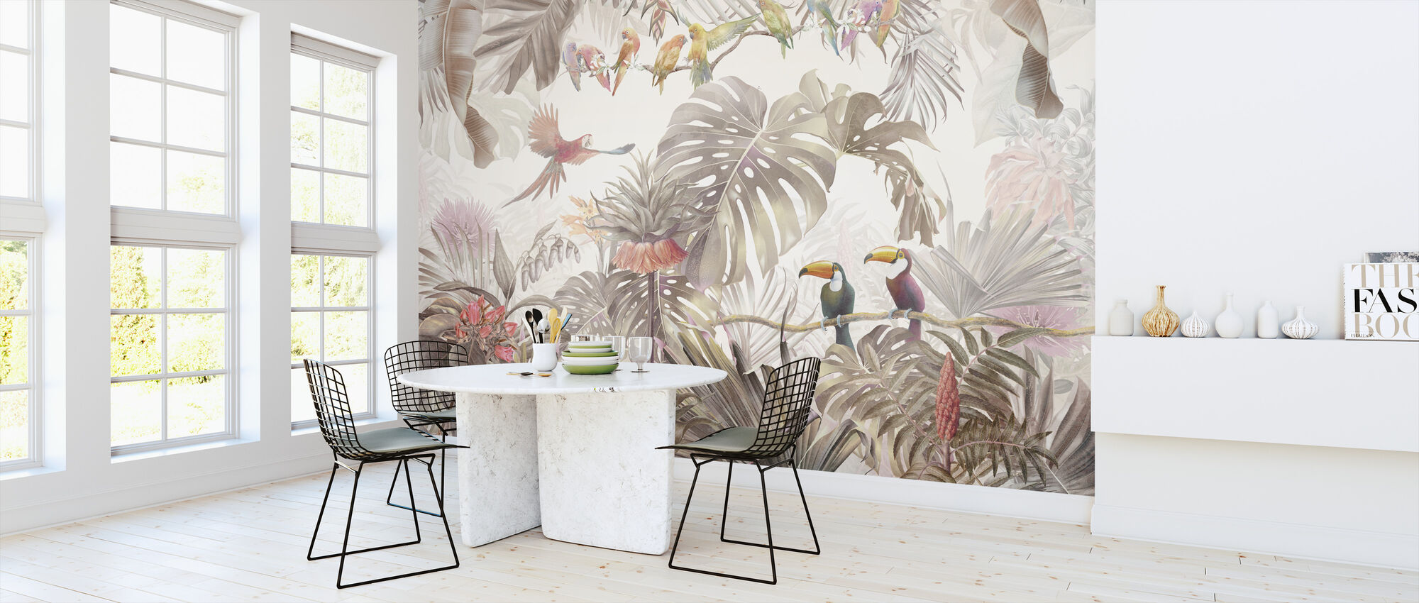 Tropical Birds - Wallpaper - Kitchen