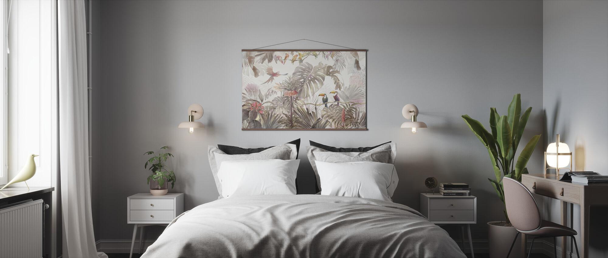 Tropische Vögel - Poster - Schlafzimmer
