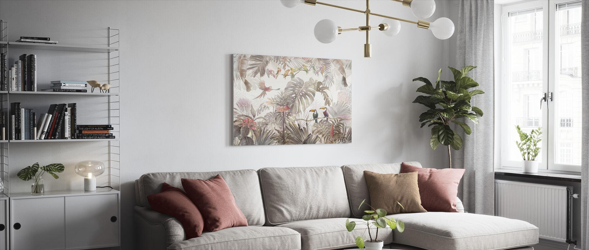 Tropische vogels - Canvas print - Woonkamer