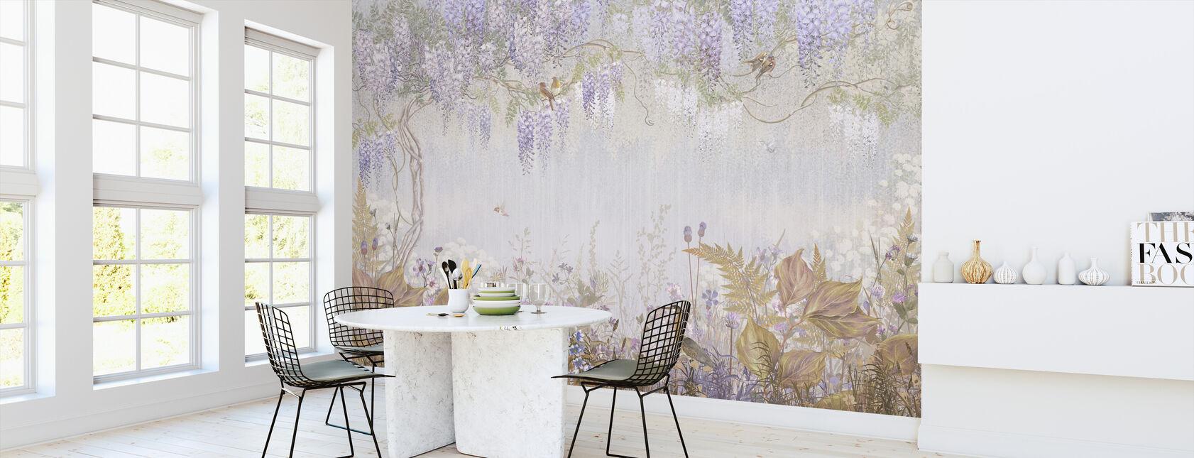 Purple Meadow - Wallpaper - Kitchen