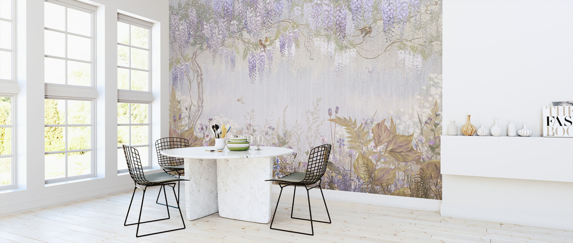 Purple Meadow - Wallpaper - Kitchen