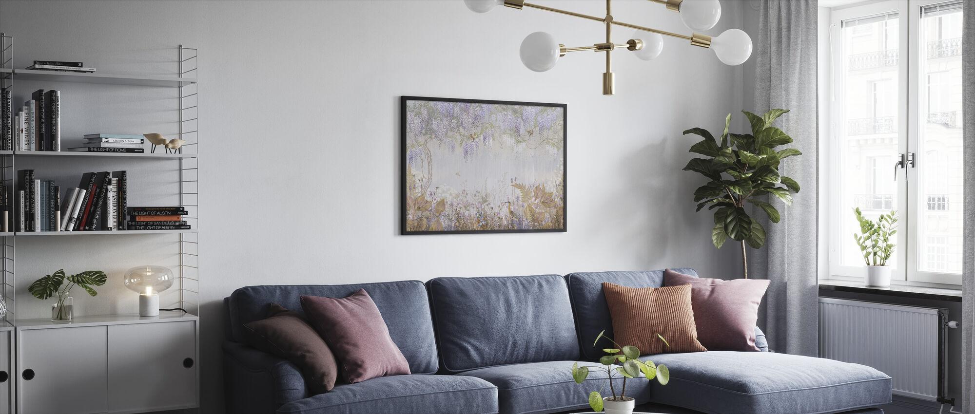 Purple Meadow - Framed print - Living Room