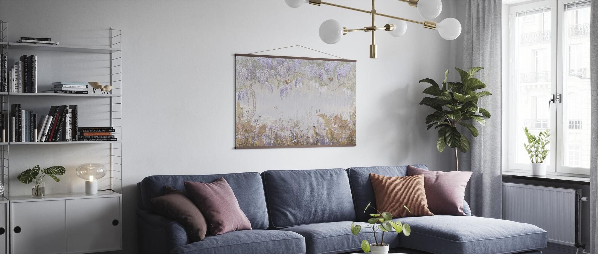 Purple Meadow - Poster - Living Room