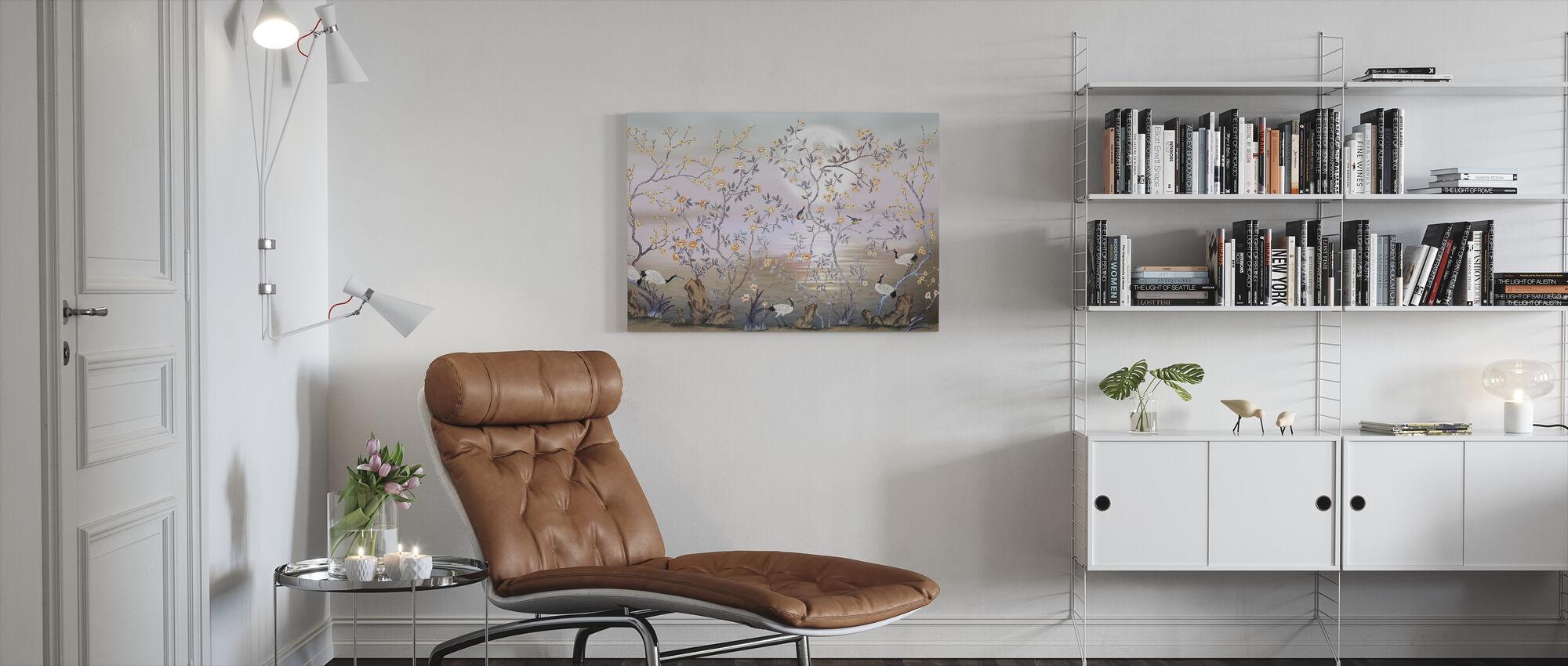 Birds in Beautiful Scenery - Canvas print - Living Room