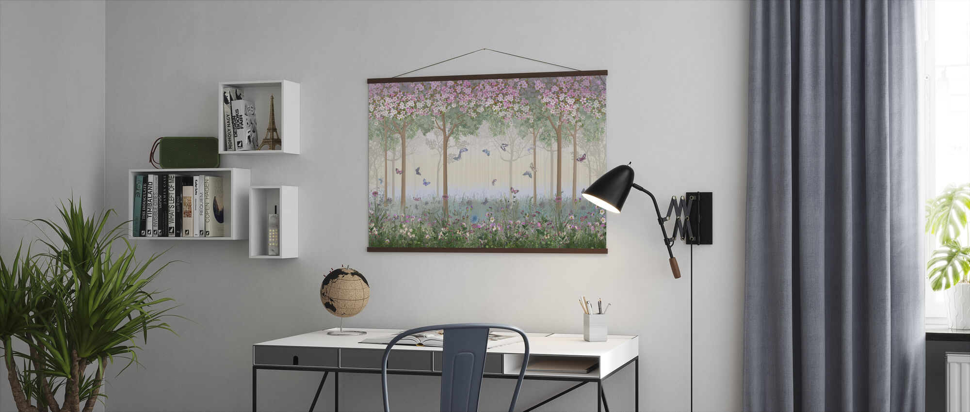 Butterflies in Hazy Meadow - Poster - Office
