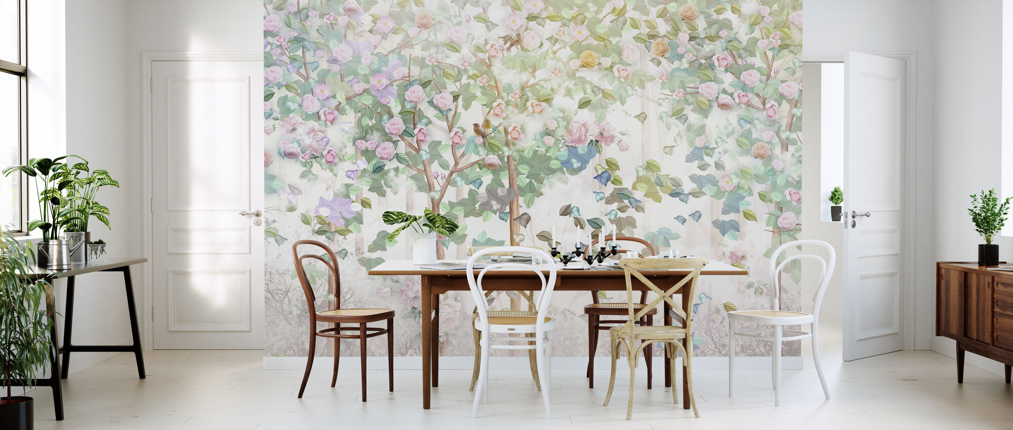 Trees in Bloom - Wallpaper - Kitchen