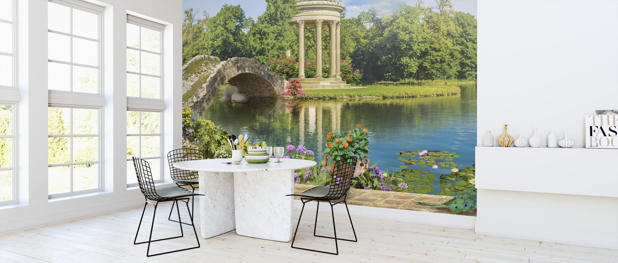 Swans in Pond - Wallpaper - Kitchen