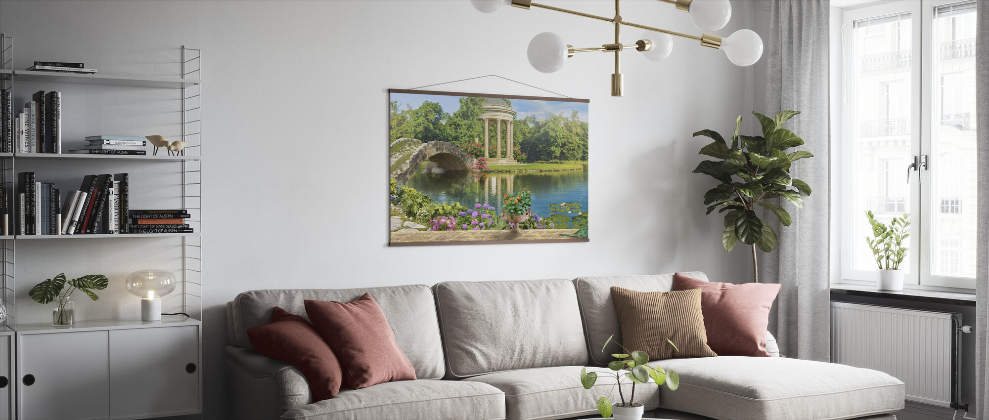 Swans in Pond - Poster - Living Room