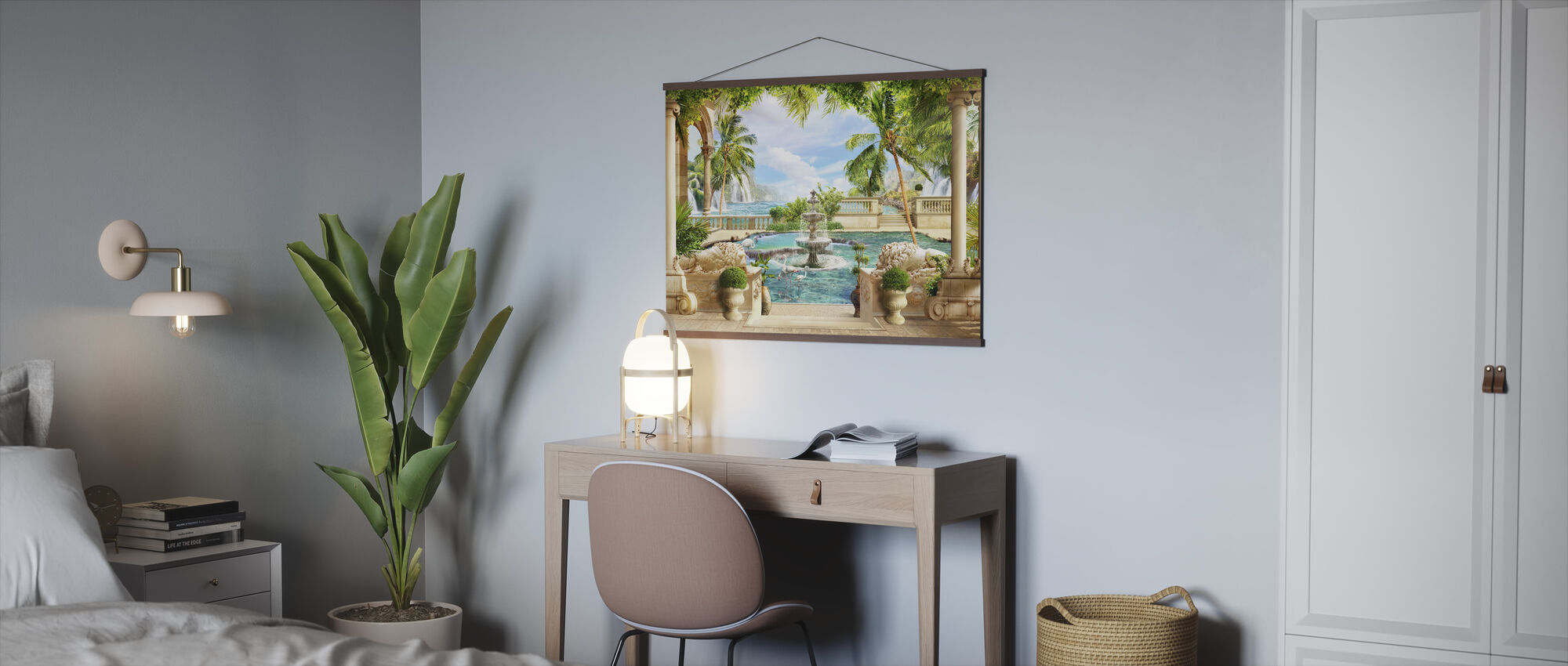 Fontein in het Paradijs - Poster - Kantoor