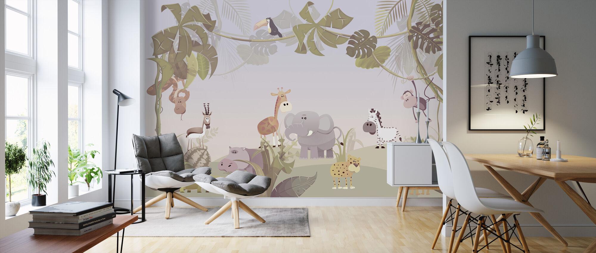 Savanna Animals - Wallpaper - Living Room