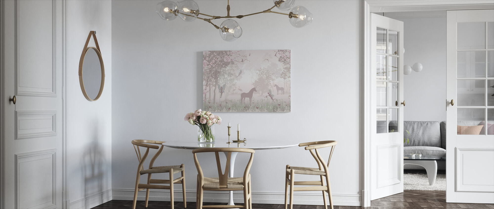 Unicorns and Fairies - Canvas print - Kitchen