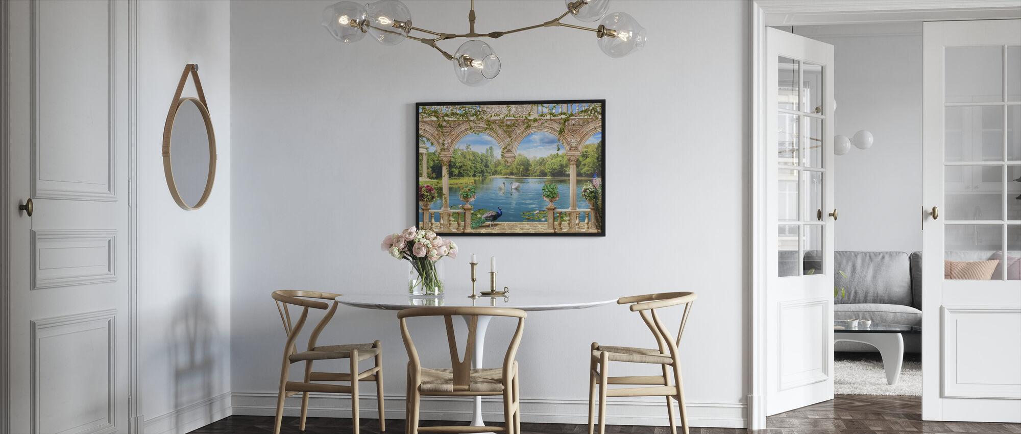 Swans in Park - Framed print - Kitchen