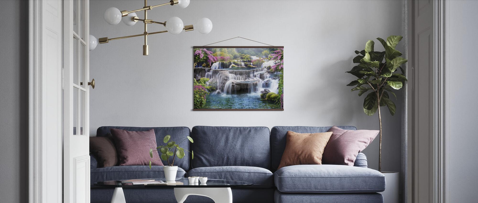 Tropiskt vattenfall - Poster - Vardagsrum